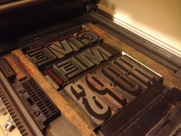 Shaded Wood Type